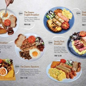 The Queenz Breakfast menu
