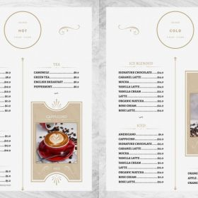 Duesey Coffee menu